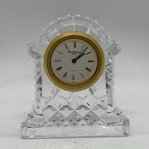 WATERFORD Crystal Signed Desk Clock